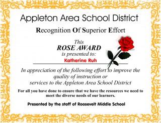 Rose-Award