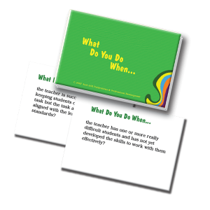 Mentoring and Supervision Scenarios What Do You Do When...Cards