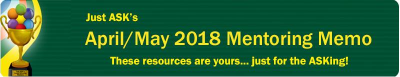 2018 April/May Mentoring Memo