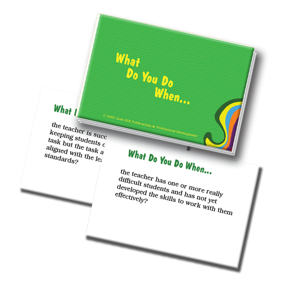 Mentoring and Supervision Scenarios What Do You Do When...Cards